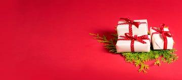 Raccolta delle scatole del regalo di Natale Fotografia Stock