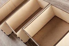 Raccolta delle scatole di legno Immagini Stock Libere da Diritti