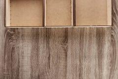 Raccolta delle scatole di legno Fotografia Stock