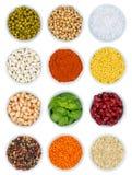 Raccolta delle spezie e delle verdure delle erbe da sopra il ritratto FO Fotografie Stock