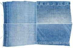 Raccolta delle strutture blu-chiaro del tessuto dei jeans Fotografie Stock Libere da Diritti
