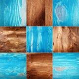 Raccolta delle strutture di legno della plancia Fotografie Stock