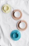 Raccolta delle tazze di caffè Fotografie Stock Libere da Diritti