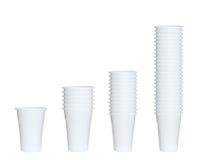 Raccolta delle tazze di plastica Fotografia Stock