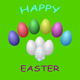 Raccolta delle uova colorate illustrazione vettoriale