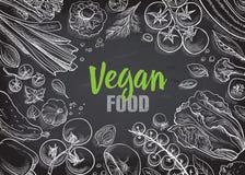 Raccolta delle verdure disegnate a mano Immagine Stock