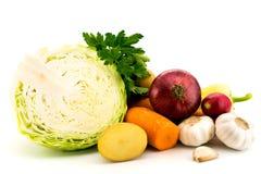 Raccolta delle verdure su bianco immagini stock libere da diritti