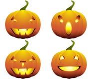 Raccolta delle zucche di Halloween royalty illustrazione gratis