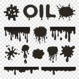 Raccolta dello splat del petrolio o del petrolio illustrazione vettoriale