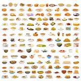 Raccolta di alimento delizioso illustrazione di stock