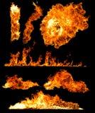 Raccolta di alta risoluzione del fuoco Immagine Stock