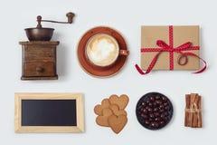 Raccolta di amore del caffè per progettazione dell'insegna Immagini Stock Libere da Diritti