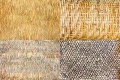 Raccolta di bambù tessuto Immagini Stock
