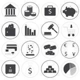 Raccolta di base di vettore delle icone dei soldi Fotografia Stock