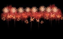Raccolta di bei fuochi d'artificio Fotografia Stock