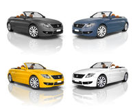 Raccolta di belle automobili moderne Immagine Stock