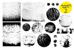 Raccolta di bolli della posta di lerciume, cerchi Insegne, insegne, logos, icone, etichette e distintivi messi Strutture di emerg Fotografia Stock Libera da Diritti