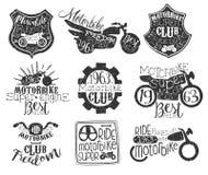 Raccolta di bollo d'annata del club della motocicletta illustrazione vettoriale