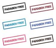 Raccolta di bollo rettangolare libera del Paraben royalty illustrazione gratis