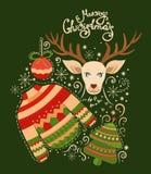 Raccolta di Buon Natale degli elementi Fotografie Stock