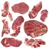 Raccolta di carne cruda Fotografie Stock