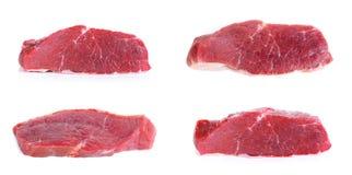 Raccolta di carne isolata sui precedenti bianchi Immagine Stock