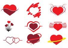 Raccolta di cuore astratto Fotografia Stock Libera da Diritti