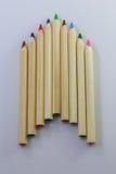Raccolta di fila della matita di colore Immagine Stock Libera da Diritti