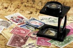 Raccolta di francobolli Fotografia Stock Libera da Diritti