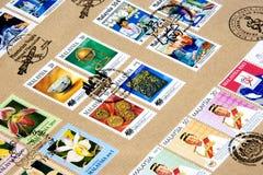 Raccolta di francobolli Immagini Stock Libere da Diritti