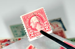 Raccolta di francobolli fotografie stock