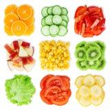 Raccolta di frutta e della verdura fresche Fotografie Stock Libere da Diritti