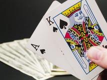 Raccolta di gioco - black jack Fotografie Stock Libere da Diritti