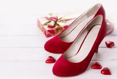 Raccolta di giorno di S. Valentino nel rosso Fotografia Stock Libera da Diritti