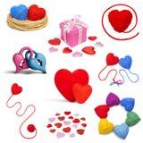 Raccolta di Heartshape Fotografia Stock