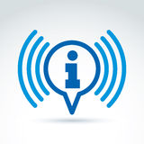 Raccolta di informazioni ed icona di tema di scambio, notizie, vettore Immagini Stock Libere da Diritti