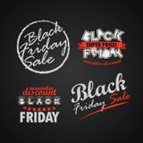 Raccolta di logo di vendita di Black Friday Insegne eccellenti di vendita di novembre v Immagine Stock