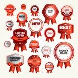 Raccolta di Logo Set Sale Shopping Banner di sconto di offerta speciale Fotografia Stock