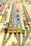 Raccolta di modello del treno Fotografia Stock