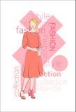 Raccolta di modello femminile di Wear Fashion Clothes Fotografie Stock