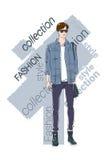 Raccolta di modello maschio di Wear Fashion Clothes Immagini Stock Libere da Diritti