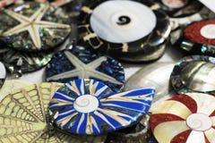 raccolta di plastica differente delle gemme come fondo piacevole Immagine Stock Libera da Diritti