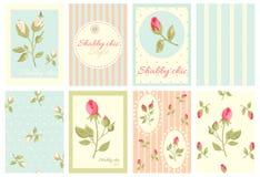 Raccolta di retro carte nello stile elegante misero Immagini Stock
