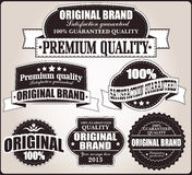 Raccolta di retro etichette d'annata, distintivi, bolli, nastri Fotografie Stock