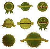 Raccolta di retro lerciume d'annata Eco e di bio- etichette Immagine Stock Libera da Diritti