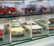 Raccolta di retro modelli dell'automobile del giocattolo Immagini Stock Libere da Diritti