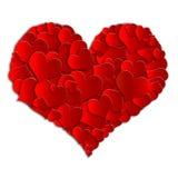Raccolta di rosso del cuore Fotografia Stock