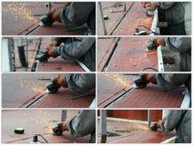 Raccolta di sawing del metallo della mano Fotografia Stock Libera da Diritti