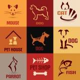 Raccolta di simbolo dell'animale domestico Fotografie Stock