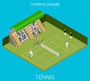 Raccolta di sport: gioco di tennis Fotografia Stock Libera da Diritti